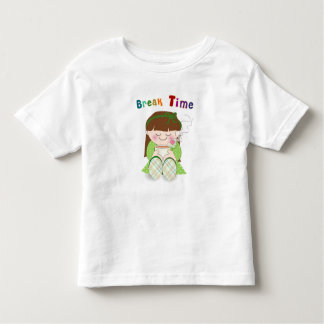 Relax! Cute Kawaii Girl Relaxing with Tea / Coffee Toddler T-shirt