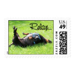 Relax - Dachshund - Hoover Postage Stamp