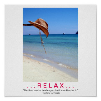 RELAX demotivational poster