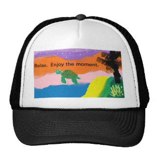 Relax enjoy the moment sea turtle hat