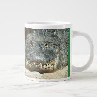 Relax! Gators don't bite.Trust Me. Giant Coffee Mug