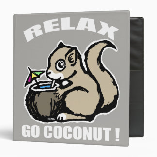 Relax! Go Coconut 3 Ring Binder