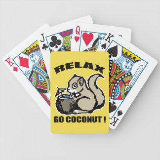 Relax! Go Coconut Bicycle Playing Cards