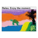 Relax goza de la tarjeta de felicitación de la tor