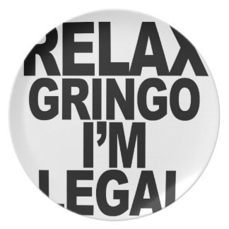 RELAX GRINGO png Party Plates