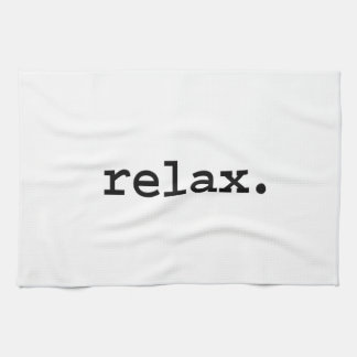 relax. hand towels