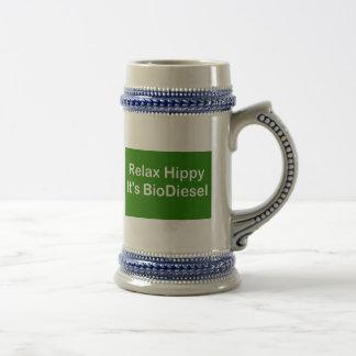 Relax Hippy It's BioDiesel Beer Stein