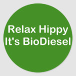 Relax Hippy It's BioDiesel Classic Round Sticker