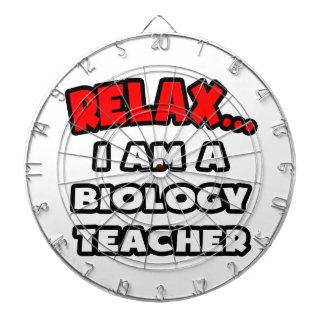 Relax ... I Am A Biology Teacher Dartboard