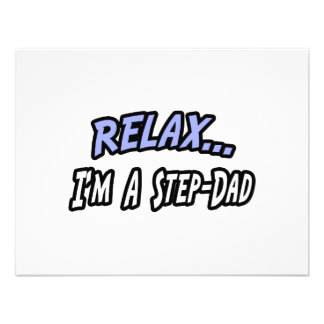 Relax I m a Step-Dad Personalized Announcements