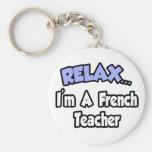 Relax...I'm A French Teacher Key Chain