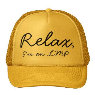 Relax, I'm a massage therapist! Trucker Hat