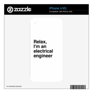 Relax, I'm an electrical engineer iPhone 4S Decal