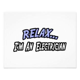 Relax, I'm an Electrician Invitation