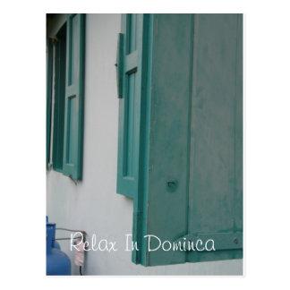 Relax In Dominca Postcard