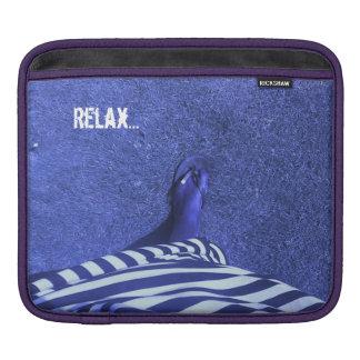 Relax Ipad sleeve/ Fashion Blue iPad Sleeve