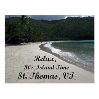 Relax it s island time St Thomas VI Postcard
