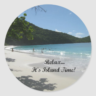 Relax...it's Island Time! Classic Round Sticker