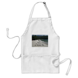 Relax, it's island time, St. Thomas VI Adult Apron