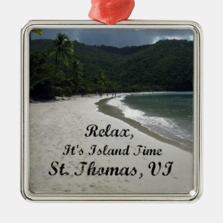 Relax, it's island time, St. Thomas VI Christmas Ornament
