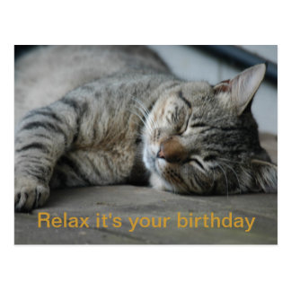 Relax it's your birthday postcard
