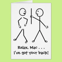 Relax, I've Got Your Back - Get Well Soon Card