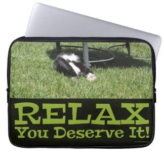 Relax Like A Boss Computer Sleeve