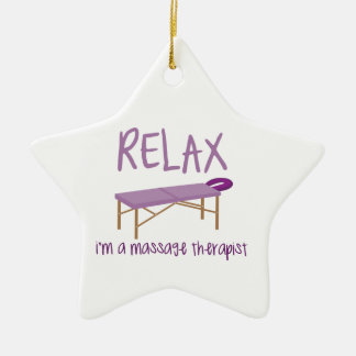 Relax Massage Table Ceramic Ornament