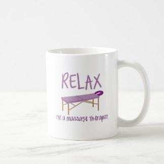 Relax Massage Table Coffee Mug
