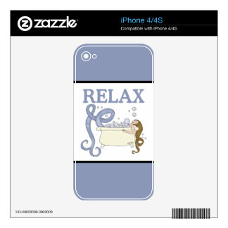 Relax Mermaid Skins For iPhone 4S