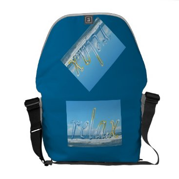 "Beach Themed ""Relax"" Messenger Bag"