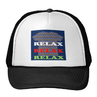 RELAX mightyshirt Script Casual Party Dance GIFTS Trucker Hat
