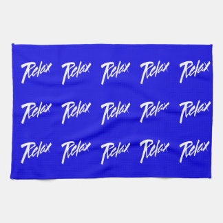 RELAX MOTTO ATTITUDE MOTIVATIONAL GOAL VACATION CH HAND TOWEL