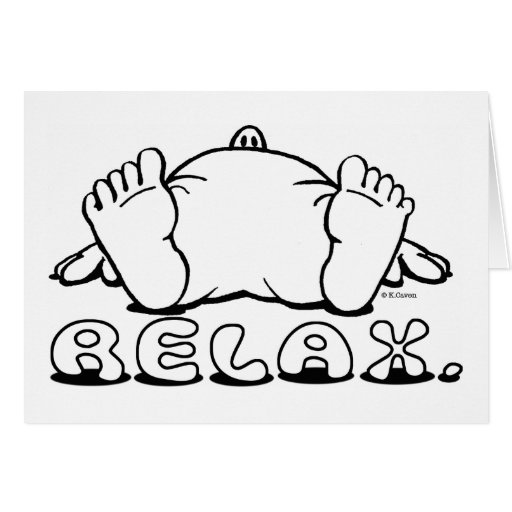 Relax Notecards Card