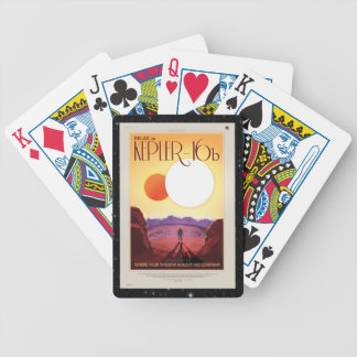Relax on Kepler 16b holiday advert Bicycle Playing Cards