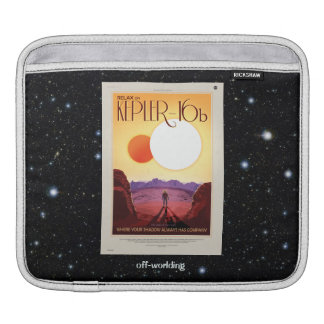 Relax on Kepler 16b holiday advert Sleeve For iPads