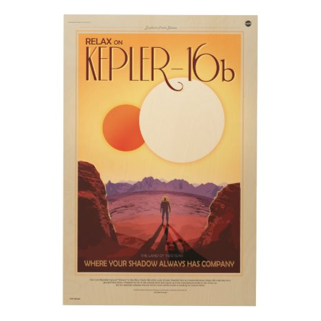 Relax on Kepler 16b holiday advert Wood Print
