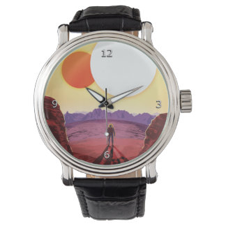 Relax on Kepler 16b vacation advert space tourism Wrist Watches