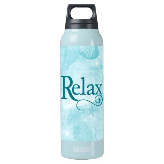 Relax on soothing seashells insulated water bottle