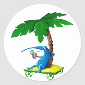 Relax on The Beach Classic Round Sticker