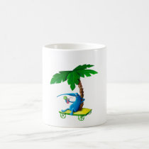 artsprojekt, summer drink, summer, drink, free time, lazy, palm tree, monster, beach, relax, sunny, sun, beach holidays, summer gift, summer present, children, kid, kids, illustration, children illustration, Mug with custom graphic design