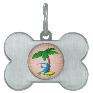 Relax on The Beach Pet Name Tag