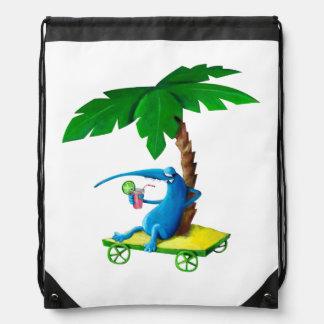 Relax on The Beach Cinch Bag