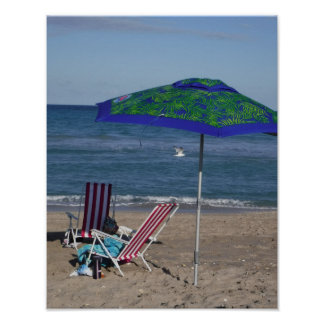 Relax On The Beach Poster