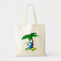 artsprojekt, summer drink, summer, drink, free time, lazy, palm tree, monster, beach, relax, sunny, sun, beach holidays, summer gift, summer present, children, kid, kids, illustration, children illustration, Bag with custom graphic design
