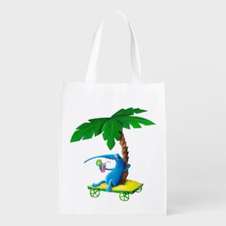 Relax on The Beach Reusable Grocery Bag