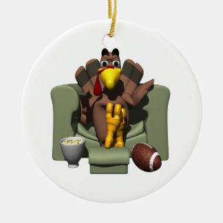 Relax On Turkey Day Ceramic Ornament