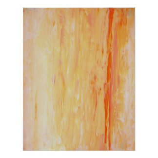 'Relax' Pink and Orange Abstract Art Poster Print