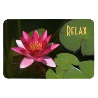 """""""RELAX"""" PINK LOTUS BLOSSOM MAGNET"""