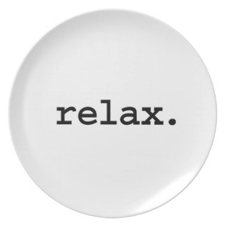 relax party plate